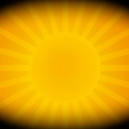 photo bright yellow sun