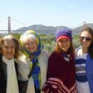 photo 3 generations of women with Golden Gate Bridge in background