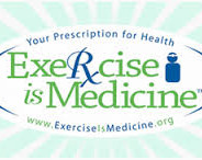 "graphic ""Excercise is Medicine"" logo"