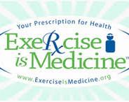 "graphic ""Excercise is Medicine"" logo"