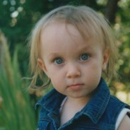 photo of little girl, blonde