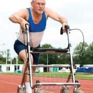 photo of geriatric runner