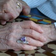 photo closeup of old women's hands