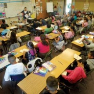 photo of children at desks